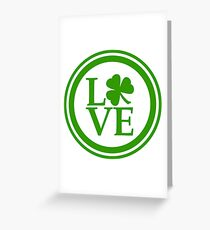 St Patrick - Love of all Irish Greeting Card