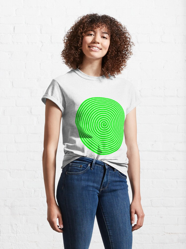 Alternate view of Green spiral Classic T-Shirt