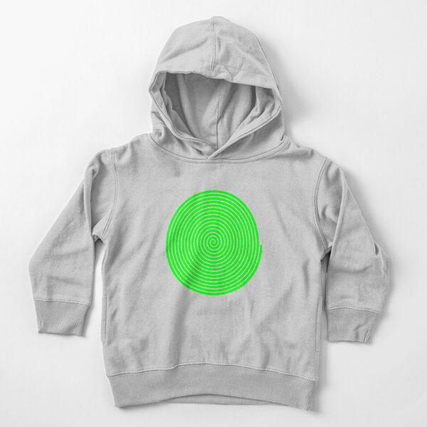 Green spiral Toddler Pullover Hoodie
