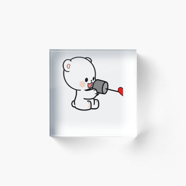 Bear Love On The Line Valentines Couples (Her) Acrylic Block