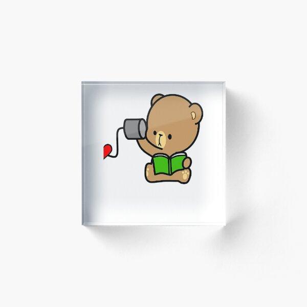 Bear Love On The Line Valentines Couples (Him) Acrylic Block