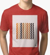 Metallic Waves Abstract Tri-blend T-Shirt