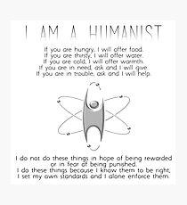 Humanist black font Photographic Print