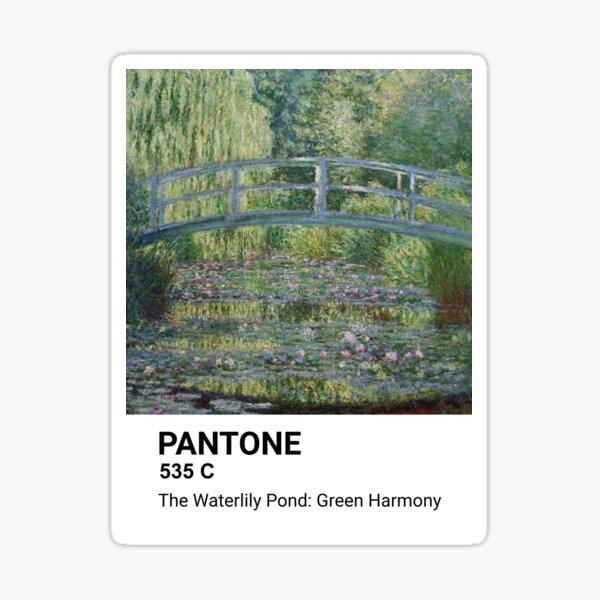 Pantone - Claude Monet - The Waterlily Pond: Green Harmony Sticker