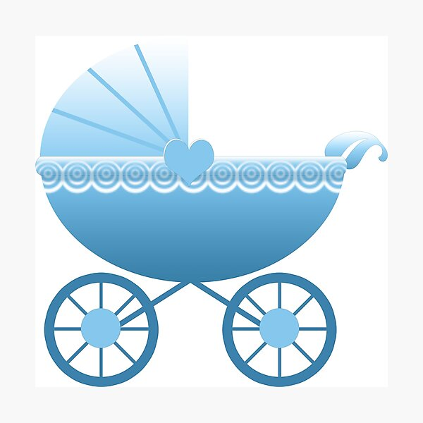 Blue Baby Carriage Photographic Print