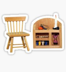 Reading Chair and Bookcase Sticker Sticker