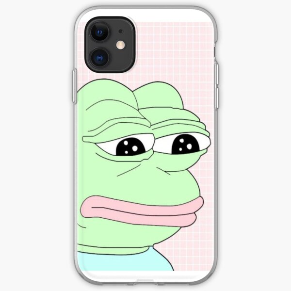 aesthetic pepe iPhone Soft Case