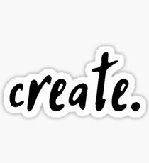 create. Sticker