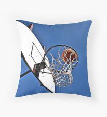 Shooting Hoops Throw Pillow
