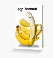 Top Banana Greeting Card