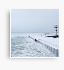 Frozen Lake Michigan Canvas Print