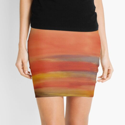pastel scape Mini Skirt