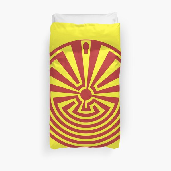 I'itoi or I'ithi is, in the cosmology of the O'odham peoples of Arizona, the mischievous creator god who resides in a cave below the peak of Baboquivari Mountain Duvet Cover