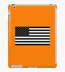 Black and White US Flag iPad Case/Skin