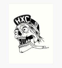 Hardcore skull Lámina artística