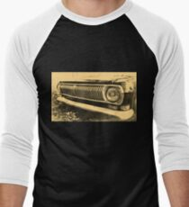 Vintage Old Classic Car Headlight Men's Baseball ¾ T-Shirt
