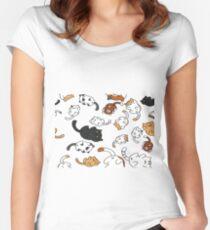 Neko Atsume Cats Women's Fitted Scoop T-Shirt