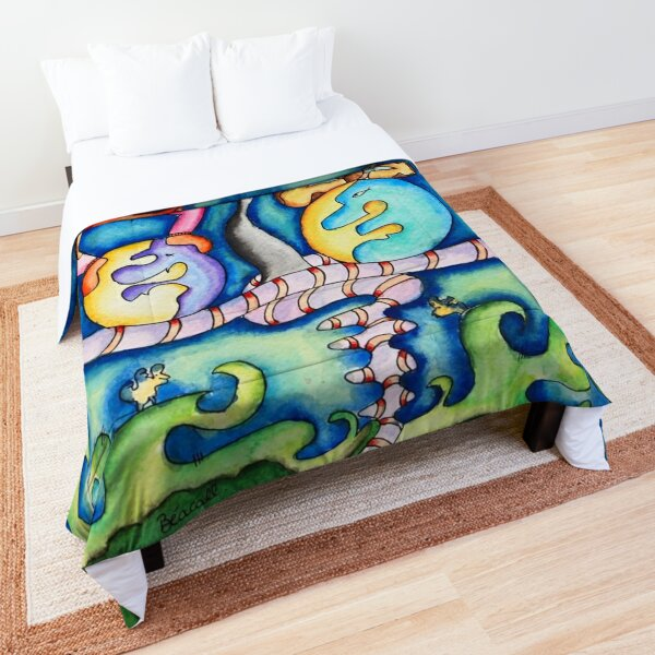in search of balance Comforter
