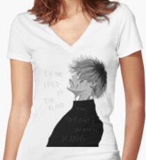 One Eyed King Women's Fitted V-Neck T-Shirt