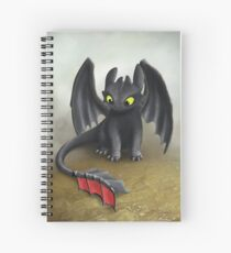 Toothless Dragon inspired from How To train Your Dragon. Spiral Notebook