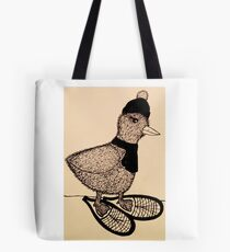 Snowshoeing Francis Tote Bag