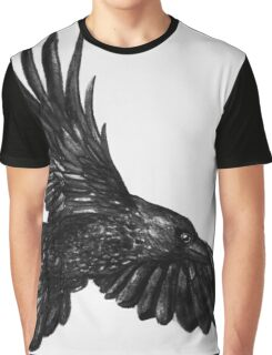 Raven in flight Graphic T-Shirt