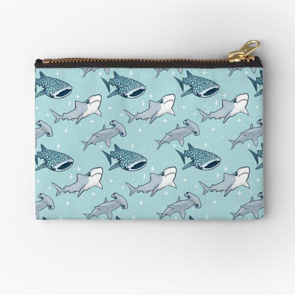Shark Pattern Zipper Pouch