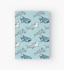 Cuaderno de tapa dura Patrón de tiburón