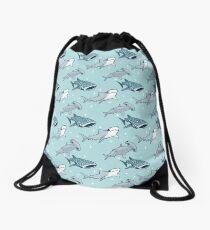 Shark Pattern Drawstring Bag