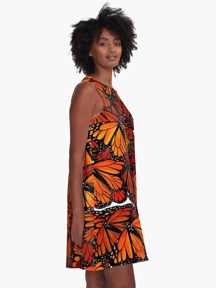 Alternate view of Schmetterlinge - Butterflies A-Line Dress