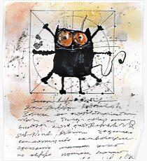 Cat da Vinci Poster