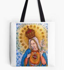 Bolsa de tela Inmaculado corazón de la Virgen María Dibujo
