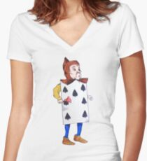 The 7 of Spades  Women's Fitted V-Neck T-Shirt