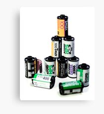 35mm Film Canister Pyramid Canvas Print