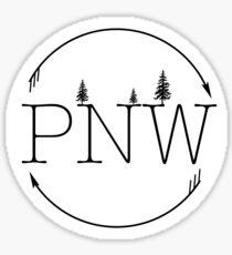 PNW Circle Sticker