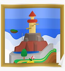 Whomp's Fortress, A Super Mario 64 Painting Poster
