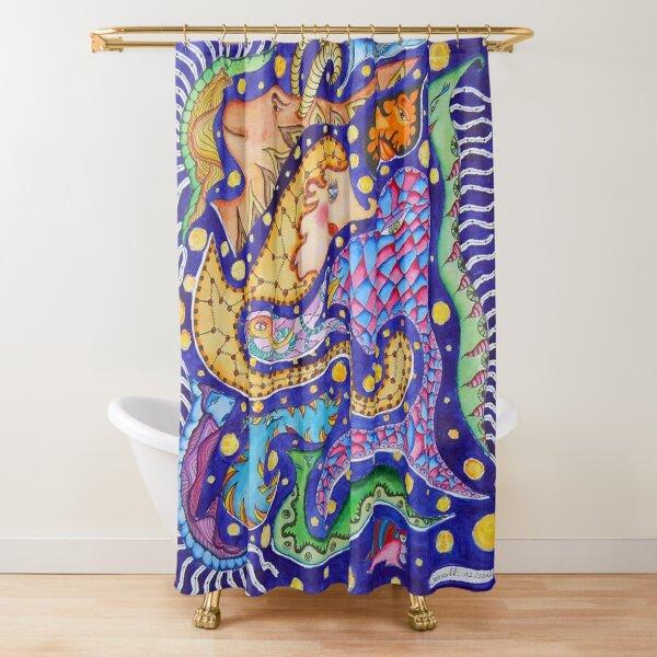 animal constellation Shower Curtain