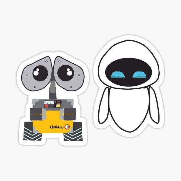 Wall-e y eve Pegatina