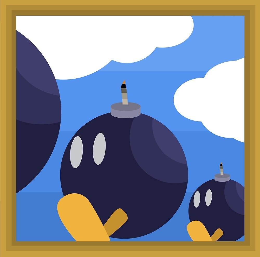 Bob-Bomb Battlefield, A Super Mario 64 Painting by bradbeideman