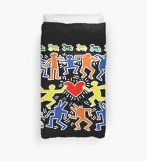 Keith Haring Love Dance Duvet Cover