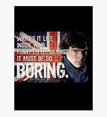 Sherlock Union Jack Quote Photographic Print