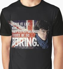 Sherlock Union Jack Quote Graphic T-Shirt