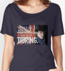 Sherlock Union Jack Quote Women's Relaxed Fit T-Shirt