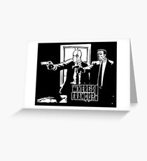 Dead Fiction - White #4 Greeting Card