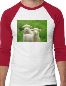 The Red Bubble Definition of Cute! - Lambs - NZ Men's Baseball ¾ T-Shirt