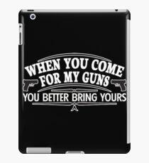 come guns iPad Case/Skin