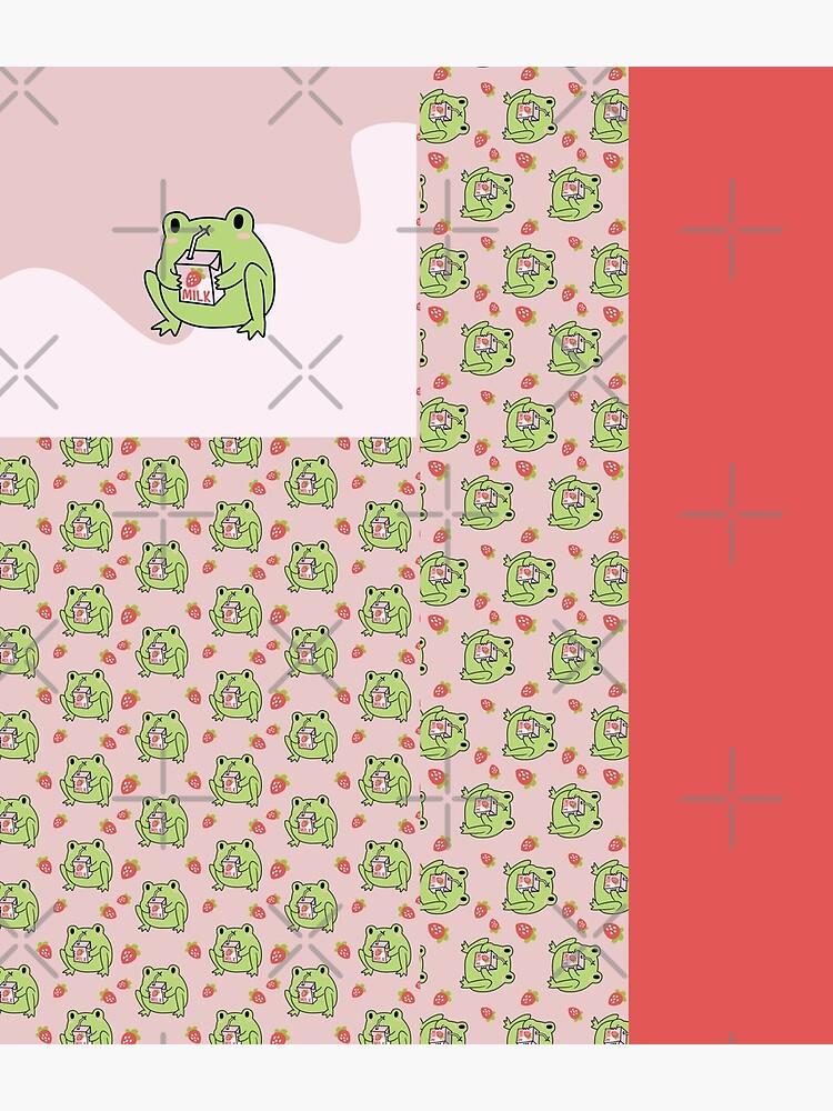Cute Strawberry Milk Frog by ElectricFangs