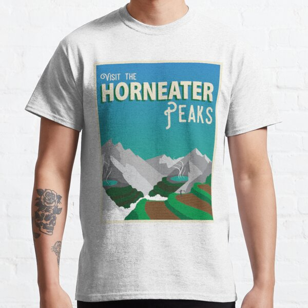 Horneater Peaks Vintage Travel Poster Classic T-Shirt
