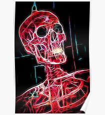 Skeleton red Poster