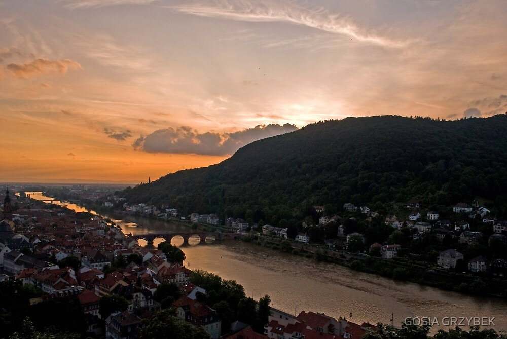 Heidelberg at dusk by GOSIA GRZYBEK